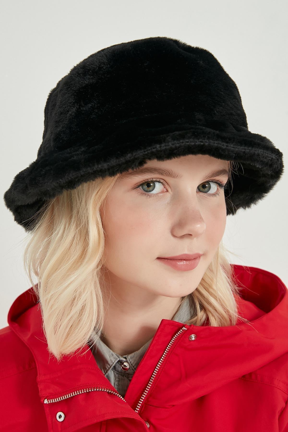 Axesoire 12839-1 Siyah Renk Bucket Şapka 2