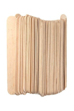 Brons Ahşap Dil Basma Çubuğu (abeslang) Naturel 50`li Paket (150x18 Mm)