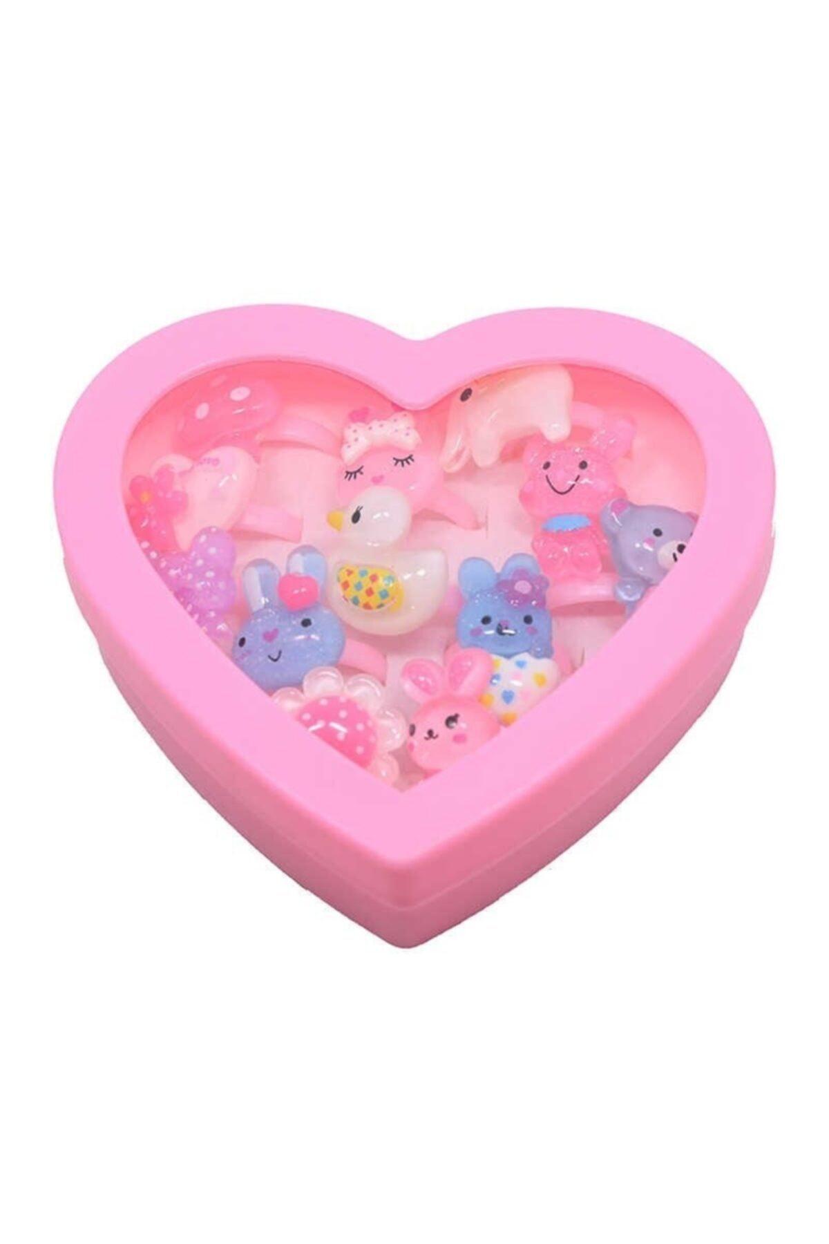 Ayver Pembe Kalp Kutulu Çocuk Yüzüğü 1