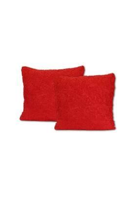 Elart Dekoratif Kırlent Kılıfı Cıty 3 Boyutlu Kırmızı 2li (45x45)