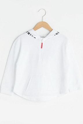 LC Waikiki Kız Çocuk Optik Beyaz Ffb Sweatshirt