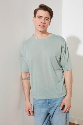 TRENDYOL MAN Mint Basic Erkek Bisiklet Yaka Oversize Kısa Kollu T-Shirt TMNSS21TS0811