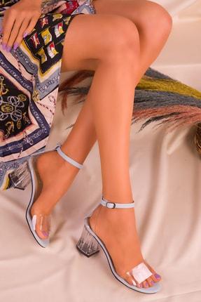 SOHO Mavi Kadın Klasik Topuklu Ayakkabı 16132