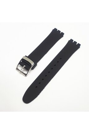 Swatch 17mm Uyumlu Siyah Slikon Saat Kordonu