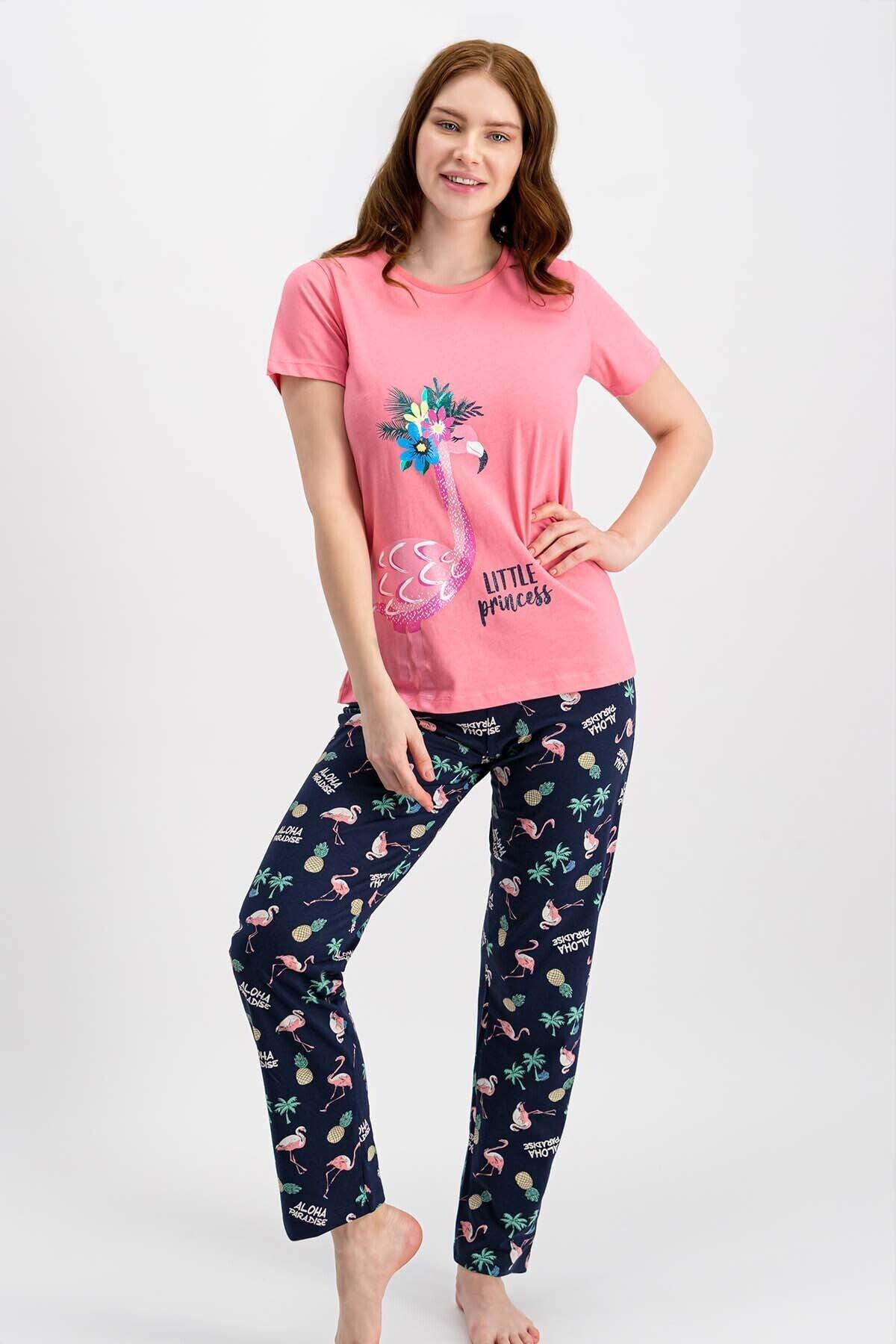 ROLY POLY Kadın Şeker Pembe Kısa Kollu Pijama Takımı 1