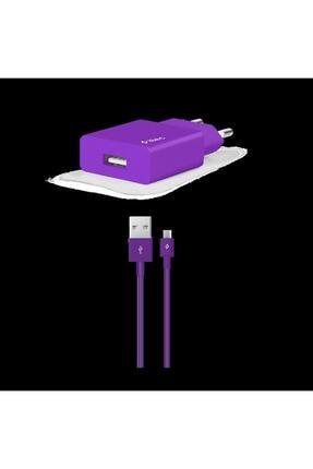 Ttec Smartcharger Seyahat Şarj Aleti 2.1a + Micro Usb Kablo Mor