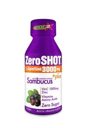 Zero Shot 60 Ml 3000 Mg L-carnitine + Plus Sambucus - Kan Portakalı