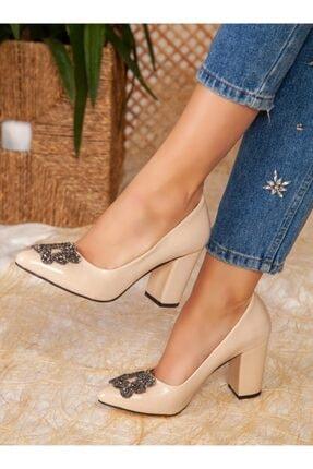 ayakkabıhavuzu Kadın Ten Rugan Topuklu Ayakkabı