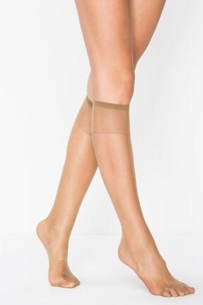 Penti Dizaltı Fit 15 Parlak Bronz Pantolon Çorabı 38 Ince 6'li