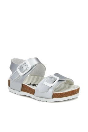 Vicco Bonbon Metalik Kız Bebe Gümüş Sandalet