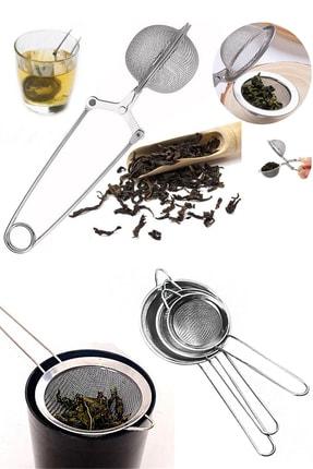 Sekiz8 Bitki Çayı Demleme Süzgeci Ve 3 Boy Çay Süzgeci