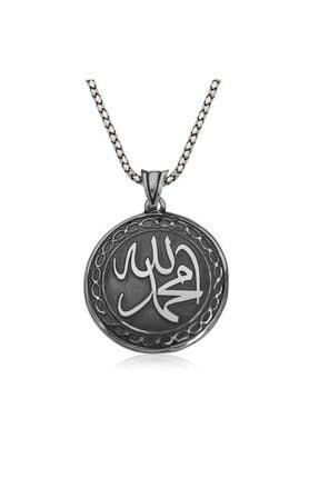Gumush Gümüş Allah Muhammed Yazılı Kolye