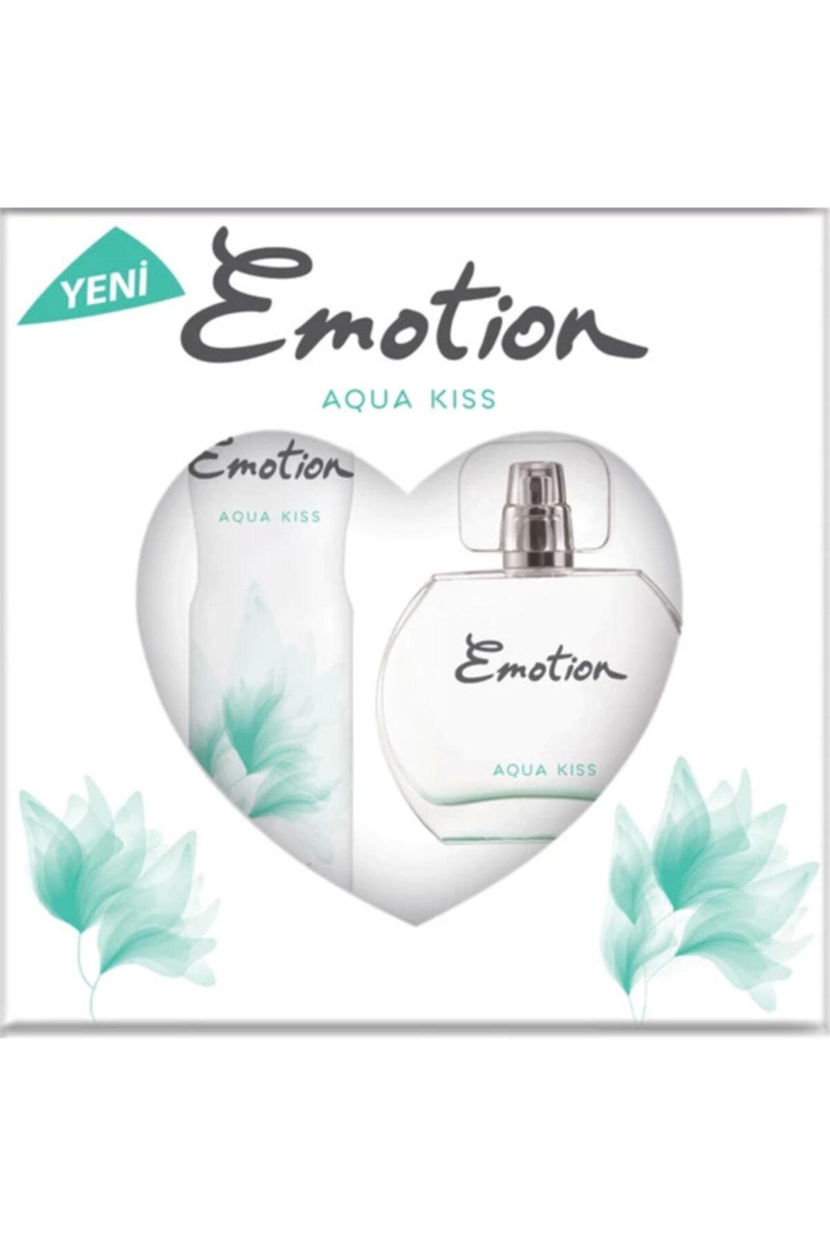 Emotion Aqua Kiss Bayan Edt 50 Ml + 150 Ml Deodorant Parfüm Seti 2
