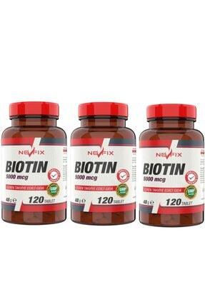 Nevfix Biotin 5000 Mcg 120 Tablet X 3 Kutu 360 Tablet