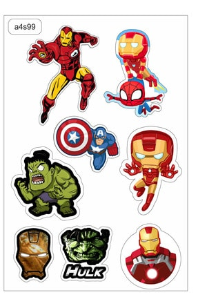 TUGİBU Avengers Laptop Notebook Sticker Seti