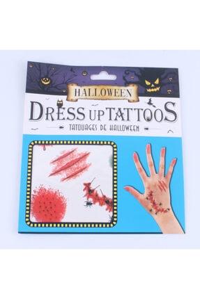 Pi İthalat Halloween Geçici Dövme Kesik Örümcekli El Modeli
