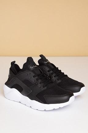 Pierre Cardin Kadın Günlük Spor Ayakkabı-siyah-beyaz