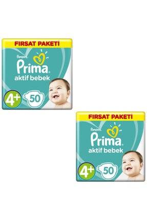 Prima Bebek Bezi 4+ Beden-numara Maxiplus 10-15 kg 50 Li 2 Paket 100 Adet