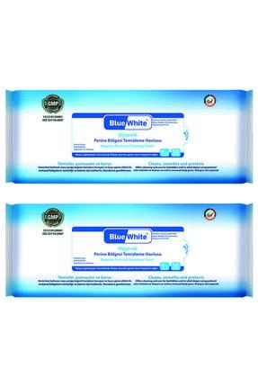 Bluewhite Blue White Antibakteriyel Perine Bölgesi Vücut Temizleme Havlusu-mendili 50 Li 2 Paket 100 Kullanım