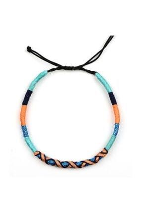 Klotho Design Çok Renkli Örgü Halhal