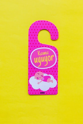 JUNO PAPER Juno Bebek Kapı Askısı • Kızımız Uyuyor