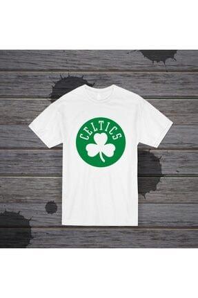 Panda Unisex Celtics Baskılı Beyaz T-shirt