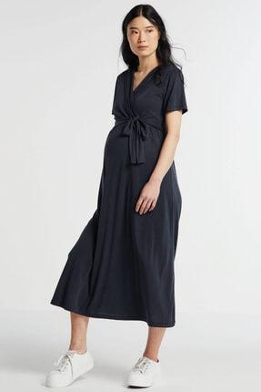 Perla Blanca Kadın Lacivert Hamile Elbisesi