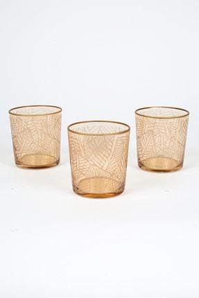 Rakle Exotic 3'lü Meşrubat Bardağı Seti_Amber 380 cc