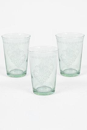 Rakle Rustic 3'lü Su Bardağı Seti Yeşil