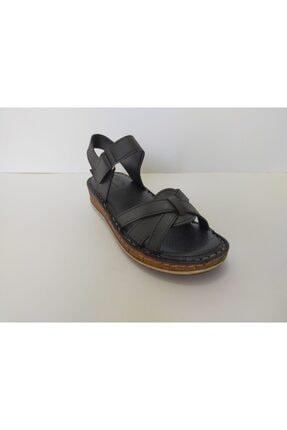 İpekçe  Kadın Siyah Ortapedik Sandalet