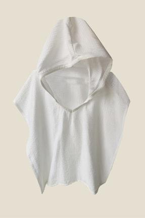 Shecco Babba Unisex Çocuk Beyaz Panço