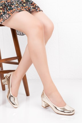 Gondol Hakiki Deri Anatomik Taban Topuklu Ayakkabı