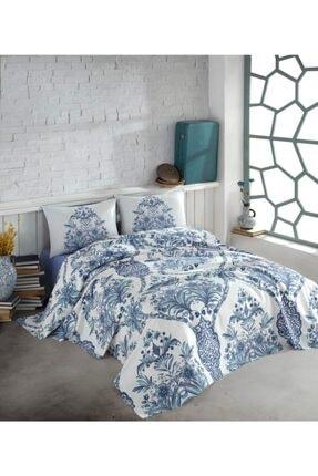 Cotton Box Egina Mavi Tek Kişilik Yastık Kılıfı Ve Pike Çarşaf