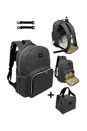 Stylo Duo Backpack For Mothers Bebek Bakım Çantası-gri