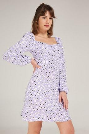 Appleline Kadın Lila Viskon Elbise