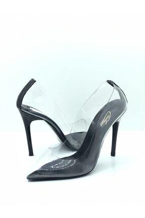 Tarık Kadın Şeffaf Siyah Stiletto