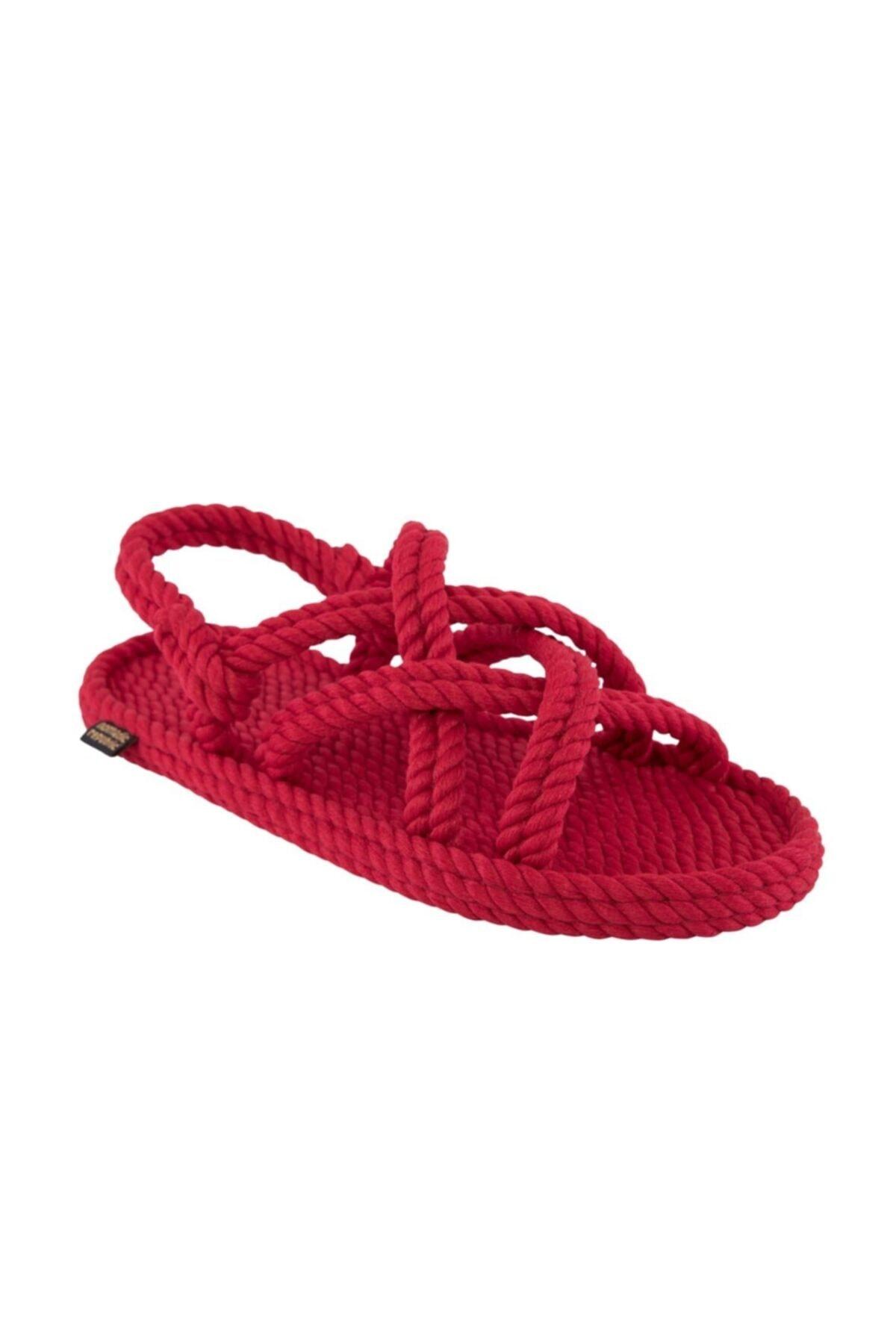 Nomadic Republic Bodrum Kadın Halat & Ip Sandalet - Kırmızı 1
