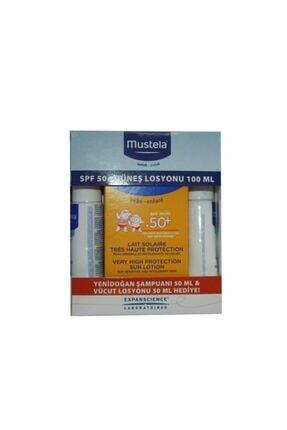 Mustela Güneş Losyonu Spf50 100 Ml (50ml Hydra Bebe+gentle Cleansing 50ml Hediyeli) Kofre