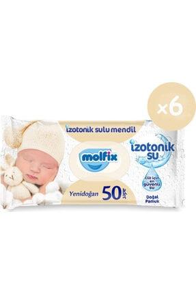 Molfix Izotonik Sulu Yenidoğan Islak Havlu 50'li 6*50 300 Yaprak