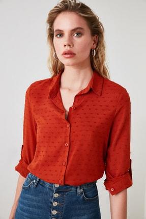 TRENDYOLMİLLA Kiremit Basic Gömlek TWOAW21GO0007