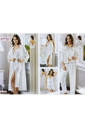 Papatya Gecelik Sabahlık Pijama Set 2090