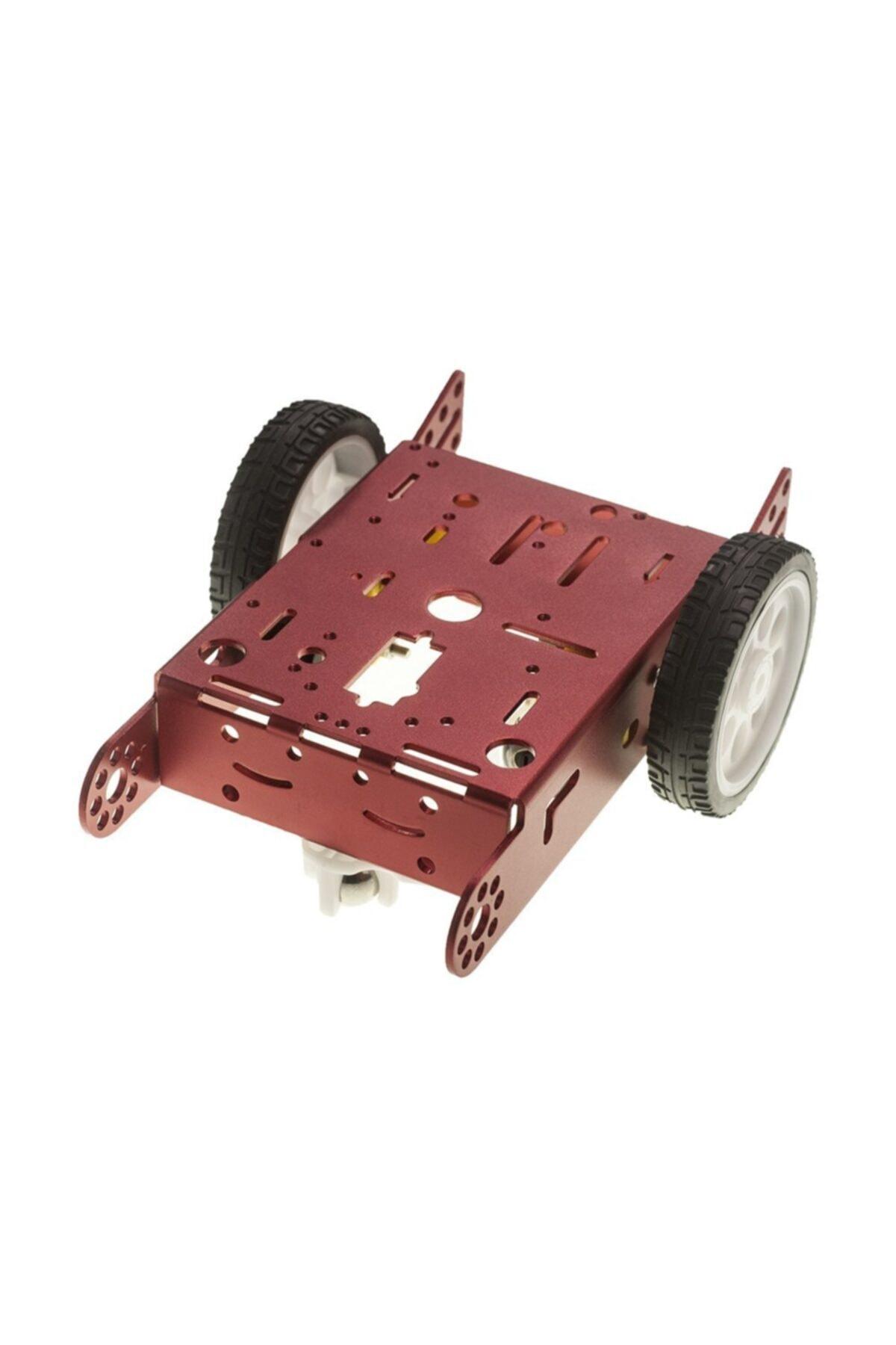 Motorobit 2wd Mbot Alüminyum Araç Kiti - Kırmızı (motor Ve Tekerlek Dahil) 1