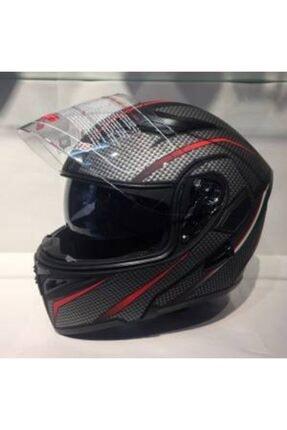 VENOM Jk-19 Çene Açılır Gözlüklü Motosiklet Kaskı (karbon Desen)