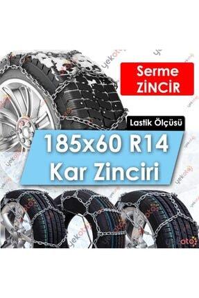 Yekoto 185x60 R14 Lastik Uyumlu Mahmuzlu Serme Kar Zinciri Çelik Halatlı