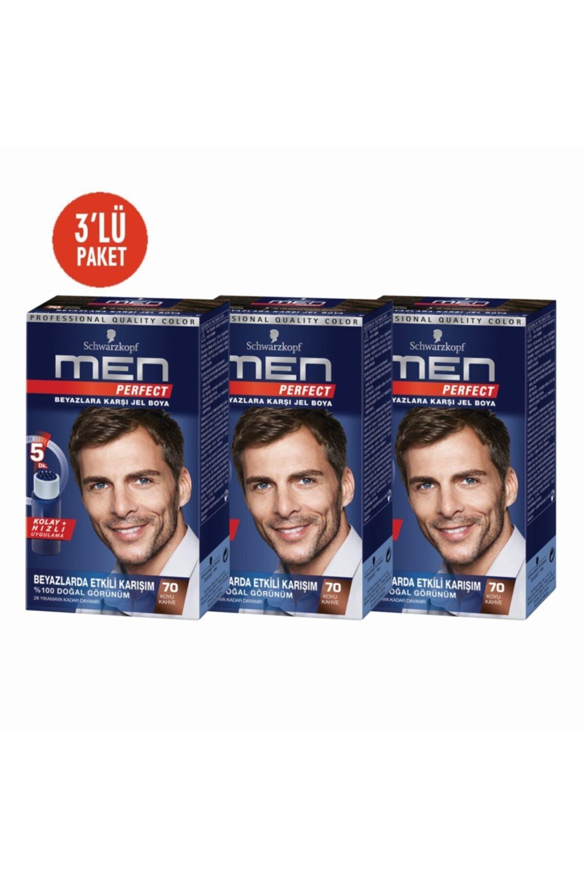 SCHWARZKOPF HAIR MASCARA Men Perfect K.kahve 3lü Erkek Saç Boyası 70 1