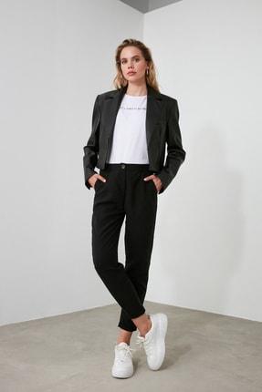 TRENDYOLMİLLA Siyah Liyosel Havuç  Pantolon TOFSS19ST0009