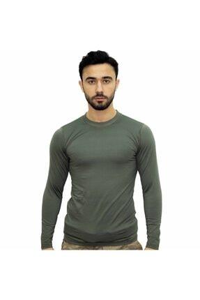 Asker Kolisi Erkek Haki Askeri Termal Microfiber Uzun Kol Tişört