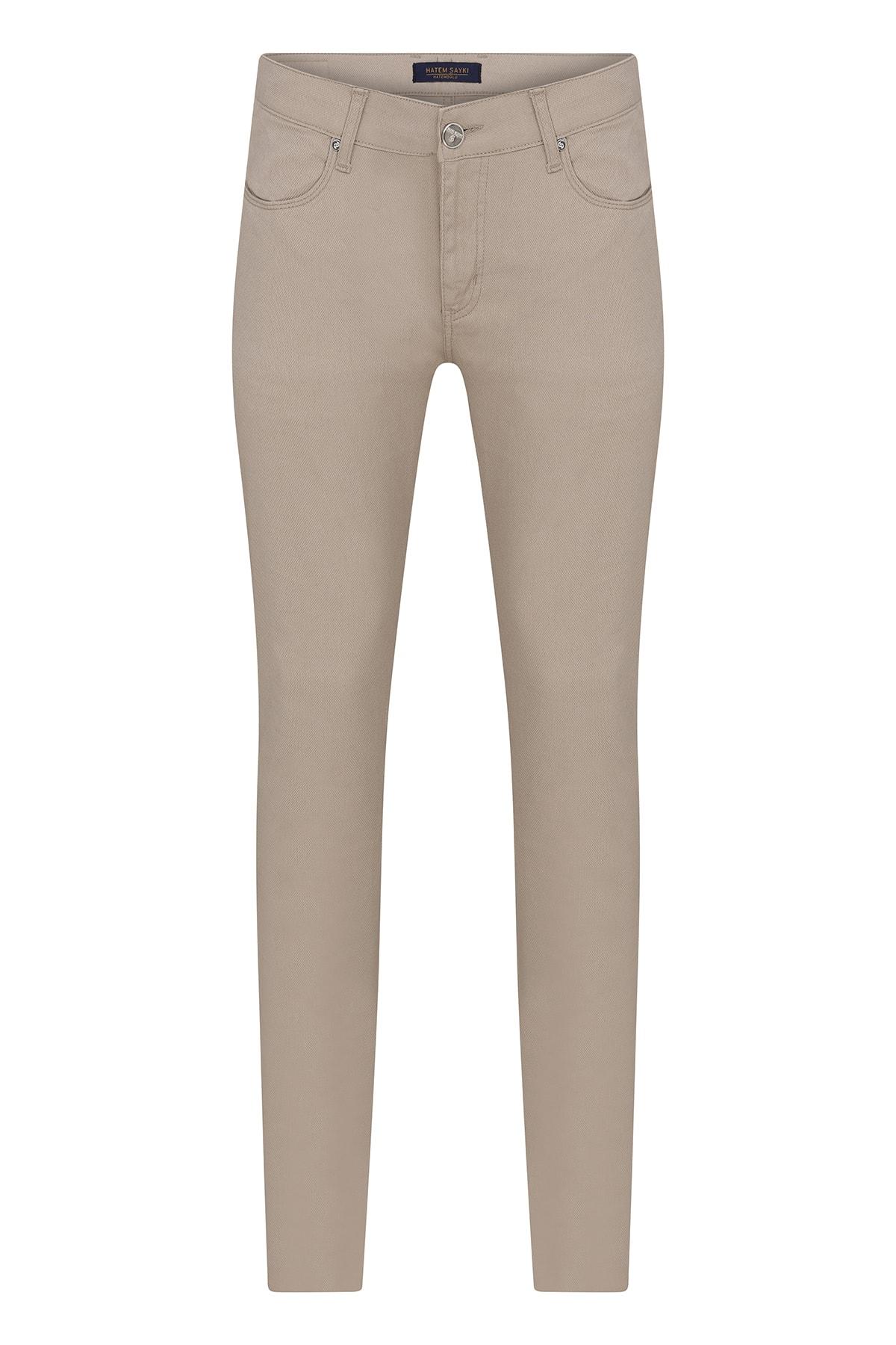 Hatemoğlu Erkek Bej Slim Fit Spor Pantolon 1