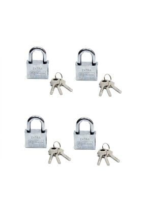 Marka Akıllı Anahtarlı Asma Kilit 4lü Set