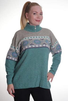 Sude Kadın Yeşil Triko Kazak 508